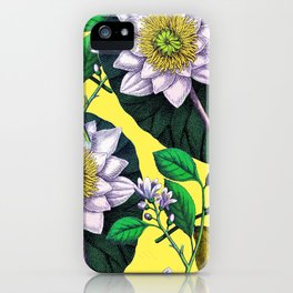 Vintage Lotus + Lemons iPhone Case