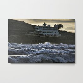 Stormy Burgh Island Hotel Metal Print