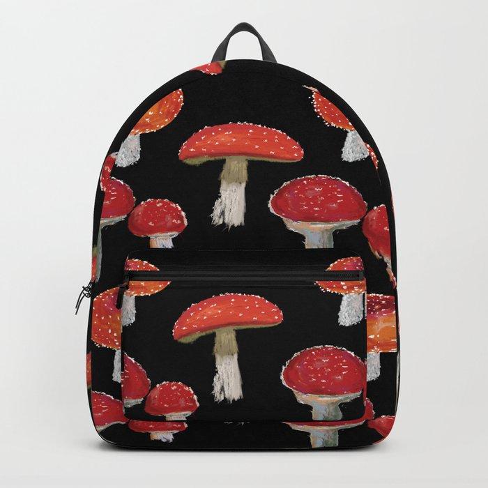 Red Mushrooms Pattern  Backpack