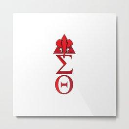 Elephant Delta Triangle Sigma Red Theta Metal Print