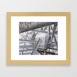 The Mnemoplex - nano carbone cristal based city Framed Art Print