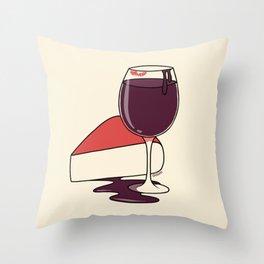 Wine & Cheese Throw Pillow