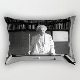 Mark Twain Billards Rectangular Pillow