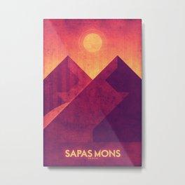 Venus - Sapas Mons Metal Print