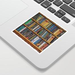 Bookshelf Books Library Bookworm Reading Pattern Sticker
