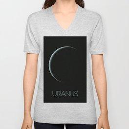 NASA-planet-asteroid poster-uranus Unisex V-Neck