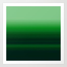 Emerald Green Stripe Design Art Print