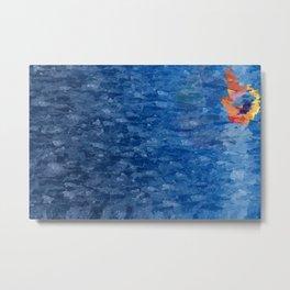 Swimming Alone Metal Print