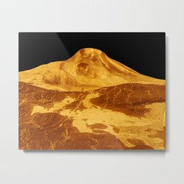 Venus - 3-D Perspective View of Maat Mons   Spacer Collection Metal Print