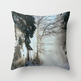 Snowray Throw Pillow