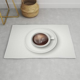 cup of coffee on a white background Rug