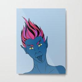 Punk Mermaid Metal Print