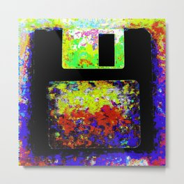 Corrupted Floppy Disk Files Metal Print