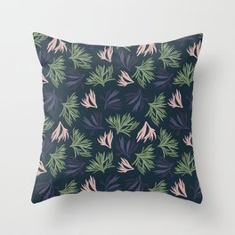Floating Corals Throw Pillow