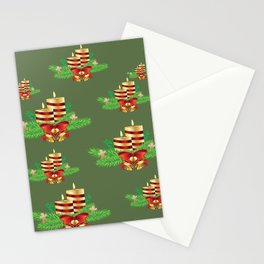 Decorative Christmas Candle Stationery Cards