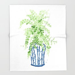 Ginger Jar + Maidenhair Fern Throw Blanket