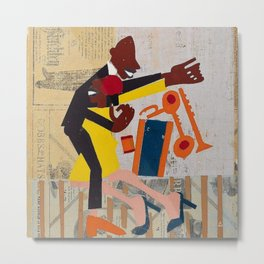 African American Masterpiece 'Jitterbugs' by William Johnson Metal Print