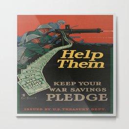 Vintage War Bonds Poster Metal Print