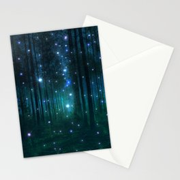 Glowing Space Woods Stationery Cards