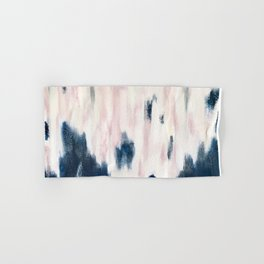 Blush Pink and Blue Pretty Abstract Hand & Bath Towel