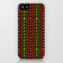 Laberinto Navideño iPhone Case