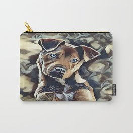 The Blue Eyed Pit bull Puppy Carry-All Pouch