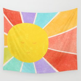 Rainbow Sun Wall Tapestry