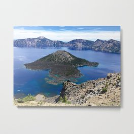 Wizard Island - Crater Lake National Park Metal Print