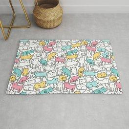 Cute kitties. Cats pattern. Rug