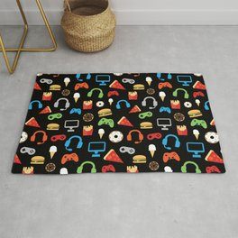 Video Game Party Snack Pattern Rug