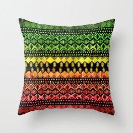 One Love Tribal {black} Throw Pillow