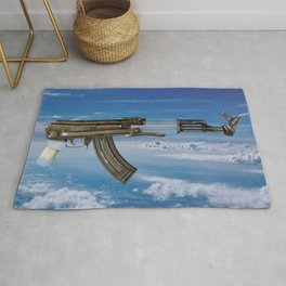 RUG REPLICA 003 (GUN IN THE SKY) Rug