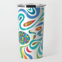 cartwheel white Travel Mug