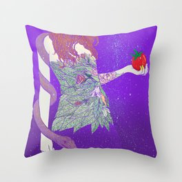 eve and the snake Throw Pillow