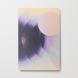 Ultraviolet Impulses Metal Print