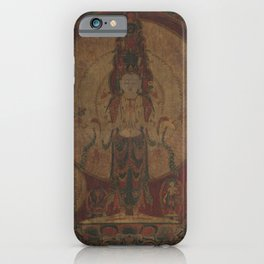 Eleven-Headed, Thousand-Armed Bodhisattva of Compassion 16th Century Classical Tibetan Buddhist Art iPhone Case