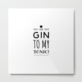 Gin Tonic Recipes Drink alcohol drink gift Metal Print