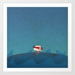 Little Red Pirate Art Print