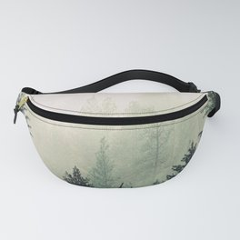 Foggy Pine Trees Fanny Pack