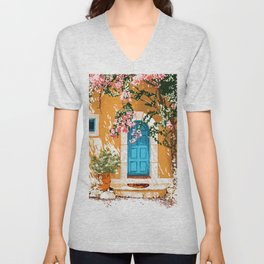 Oh The Places You Will Go, Spanish Bougainvillea Villa Unisex V-Neck