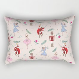 The Nutcracker Christmas On Ballet Shoe Pink Rectangular Pillow