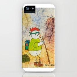 Hiking Chicken iPhone Case