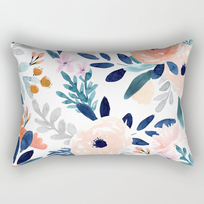 Jolene Floral Rectangular Pillow
