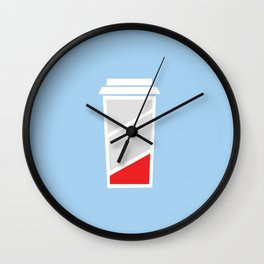 Low Batteries nedd coffee Wall Clock