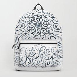 Mandala • Fuck it • grey Backpack