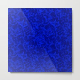 Blue starry dense texture on a sea background. Metal Print