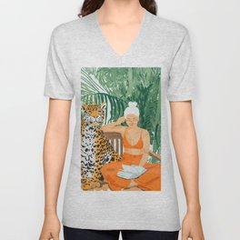 Jungle Vacay Unisex V-Neck