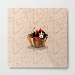 The Love Puppy — Chocolate Candy Metal Print