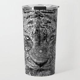 mandala tiger marble Travel Mug