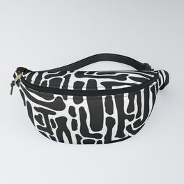 Black and White Blog System Fanny Pack